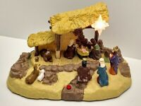 Vintage Gemmy Narrated Talking Nativity Manger Set Extremely Rare!