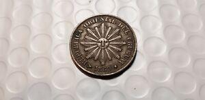 Uruguay 1869-H 1 Centesimo Bronze Coin    Nicer Coin