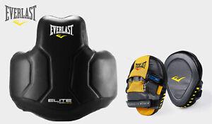 Everlast Original Elite Foam Coach Body Protector w/ A Pair of Focus Mitts