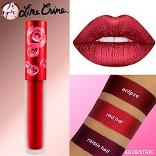 Lime Crime RED HOT Velvetine Matte Liquid Lipstick Metallic Edition (Cherry Red)