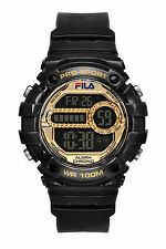 FILA ACTIVE 38-099-004 Uhr Armbanduhr Sport Uhren Jogging Fitness Schwarz Gold