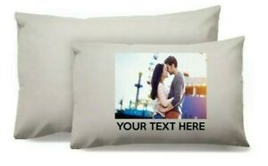 Personalised Photo and Text Pillowcase Cover Custom Gift