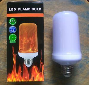 LED Flame Effect Light Bulb- Simulated Nature Fire Flicker Lamp, E26 USA Base 9w