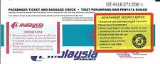 Airline Ticket - Malaysia - 4 Flight Format - c1993 (T366)