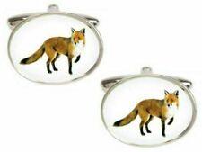 Orange//White Zennor Mens Fox Cufflinks