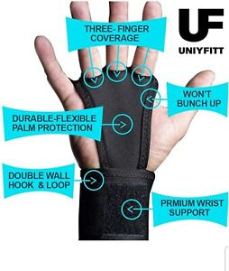 Pull Up Wraps for Men and Women Cross Fit Hand Grips 2-in-1 Hand Grips with Wris