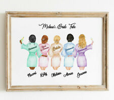 Personalised Hen Party Night Bride Tribe Wall/ Word Art Picture Keepsake Gift.