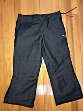 Woman's Puma Capri Length Athletic Pants Black Size Medium
