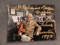 Yehudi Menuhin † Autogramm Autograph Top! auf Foto signiert (15,8 cm x 11,9cm)