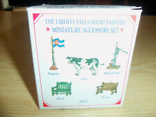 1998 Liberty Falls - Hand Painted Pewter Miniature Accessory Set - Ah52