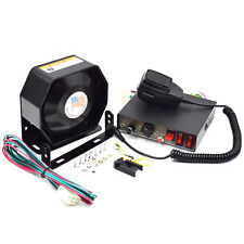 Hot Black 8 Sound Loud Car Warning Police Fire Siren Horn PA Speaker MIC System