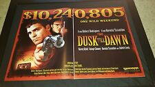 From Dusk Til Dawn Rare Box Office Promo Poster Ad Framed!