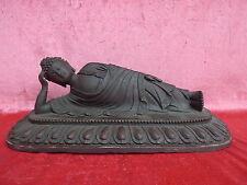bella, vecchio bronzo__sdraiata buddah__statua in bronzo__36cm_