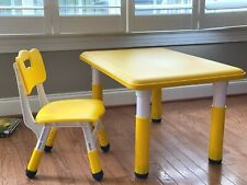 Children's adjustable table and chair Set_for kids 2-13 year old