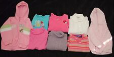 Lot of 8 Toddler Girl Long Sleeve Winter Shirts Tops Sweater Coat Size 24 Months