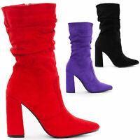 Scarpe donna stivali stivaletti tronchetti camoscio tacchi TOOCOOL Q6X983-18