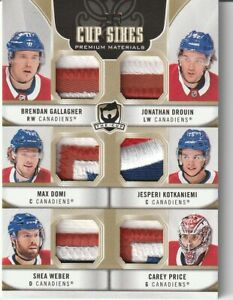 Carey Price Patch Montreal Canadiens /2 The Cup Sixes Kotkaniemi Drouin Weber