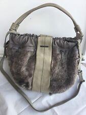 5f39b14aa0 VIC MATIÈ bag Woman, gray, leather Borsa Donna colore grigio, pelle,  pelliccia