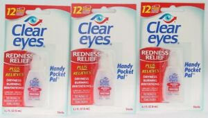 CLEAR EYES * Handy Pocket Pal * 0.2oz Your  Choice of 3pk, 6pk, 12pk