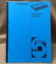 Bang & Olufsen Beocord 5000 Cassette Deck Service Manual