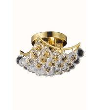 "Palace Crown 4 Light 10"" Crystal chandelier light - Gold Precio Mayorista"