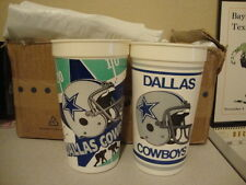 Vintage NFL Dallas Cowboys 1989 1990 Season Schedule jimmy johnson era Cup Cups