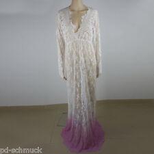 Sexy Damen BodenLang Nachtwäsche StrandKleid Spitzenkleid Maxi Kleid Schwangere