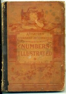 """""""Numbers Illustrated""""- 1886- Great Old Elementary Math Textbook-  Nice Pictures"""