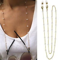 1pc Eye Glasses Sunglasses Spectacles Eyewear Pearl Chain Holder Cord Lanyard