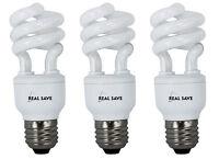 3x Spiral Energy Saving Light Bulbs Lamp 9W 11W 15W 18W 20W 26W E14 E27 ES CFL