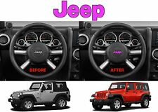 Pink Jeep Logo Steering Wheel Decal Overlay For 2011-2017 Wrangler New Free Ship