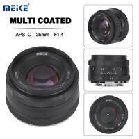 Meike 35mm F1.4 Large Aperture Lens Mirrorless Camera for Fujifilm FX Sony E
