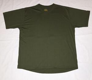 Cabelas Underwear Baselayer T Shirt Mens 2XL-Reg Olive Green Hunting USA Made