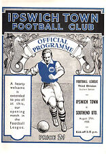 1938/39 Ipswich Town v Southend United, 1st League match, PERFECT CONDITION