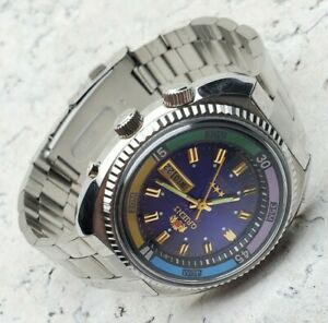 NEW! Watch ORIENT King Diver KD AUTOMATIC ORIGINAL JAPAN PURPLE Dial Sea King SK