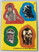 1980 STAR WARS EMPIRE STRIKES BACK STICKER #23 Luke Darth Vader C3PO