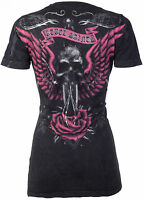Rebel Saints AFFLICTION Women T-Shirt WIDOW Biker UFC Sinful S-XL $40