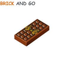 Lego 2 plaques de chocolat marrons 1x2