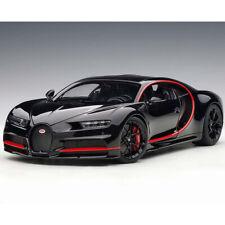 Autoart Bugatti Chiron 2017 1:18 Model Car Nocturne Black with Red Accents 70991