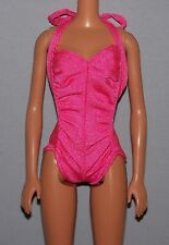 Barbie Doll Clothes Vintage Twirly Curls One Piece Hot Pink Bodysuit