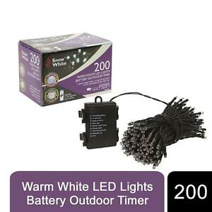 200 Battery Operated Multi Coloured LED Fairy Lights With Timer
