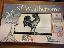 """30"""" Whitehall Weathervane Rooster Recycled Aluminum"""