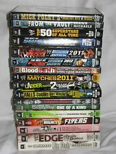 HUGE LOT OF WWE WWF AUTHENTIC DVD'S MOST 2 OR 3 DISC SETS OOP SOME RARE LQQK