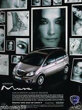 Publicité advertising 2007 Lancia Musa avec Carla Bruni