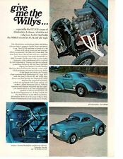 1940 WILLYS CC/GS SEDAN - TOMMY SHINOLSTER & KEVIN LEHMAN ~ ORIG ARTICLE / AD