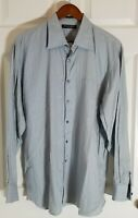 Tommy Bahama Mens Large  Blue Stripe Long Sleeve Button Down Shirt 100% Cotton