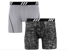 adidas ORIGINALS Men's SPORT Performance Mesh Boxer Briefs BLACK AND GRAY