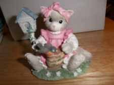 "Calico Kitten Figurine "" You'Re My Feathered Friend Forever"""