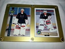 1992 Classic Manon Rheaume #59 & #224 Hockey Cards in Screw Down Holder