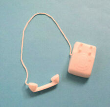 VINTAGE BARBIE PAK WHITE SQUARE PHONE FROM  60'S NEAR MINT ~
